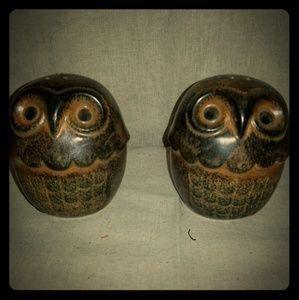 Vintage OWL salt pepper shakers Japan
